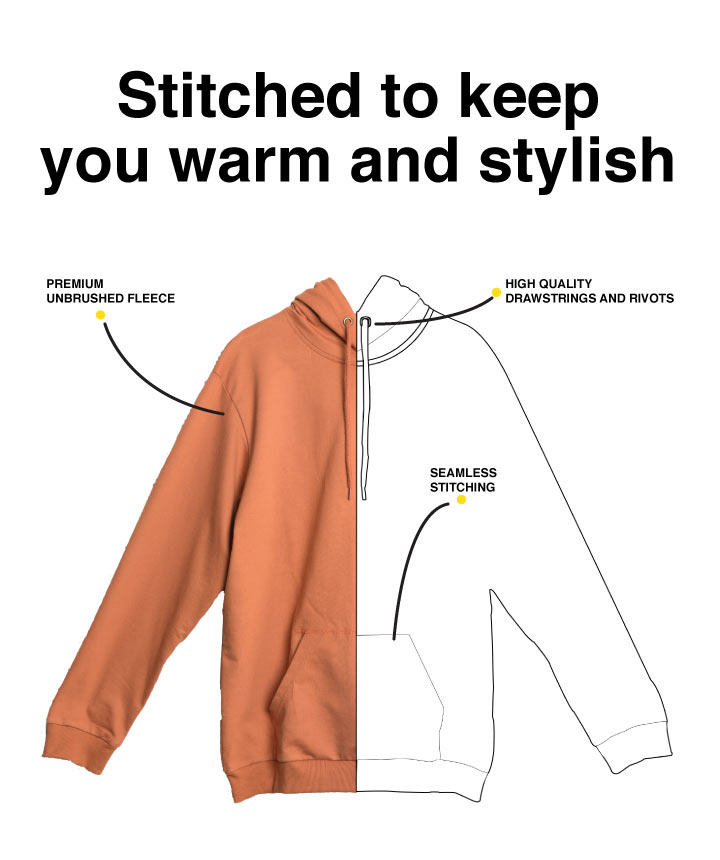 Imperfect Fleece Hoodies Description Image Mobile Site 1@Bewakoof.com