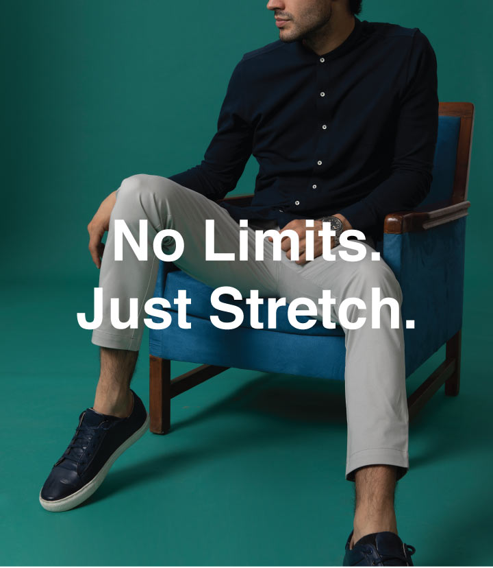 Zaffre Blue Slim Fit Cotton Chino Pants Description Image Mobile Site 0@Bewakoof.com