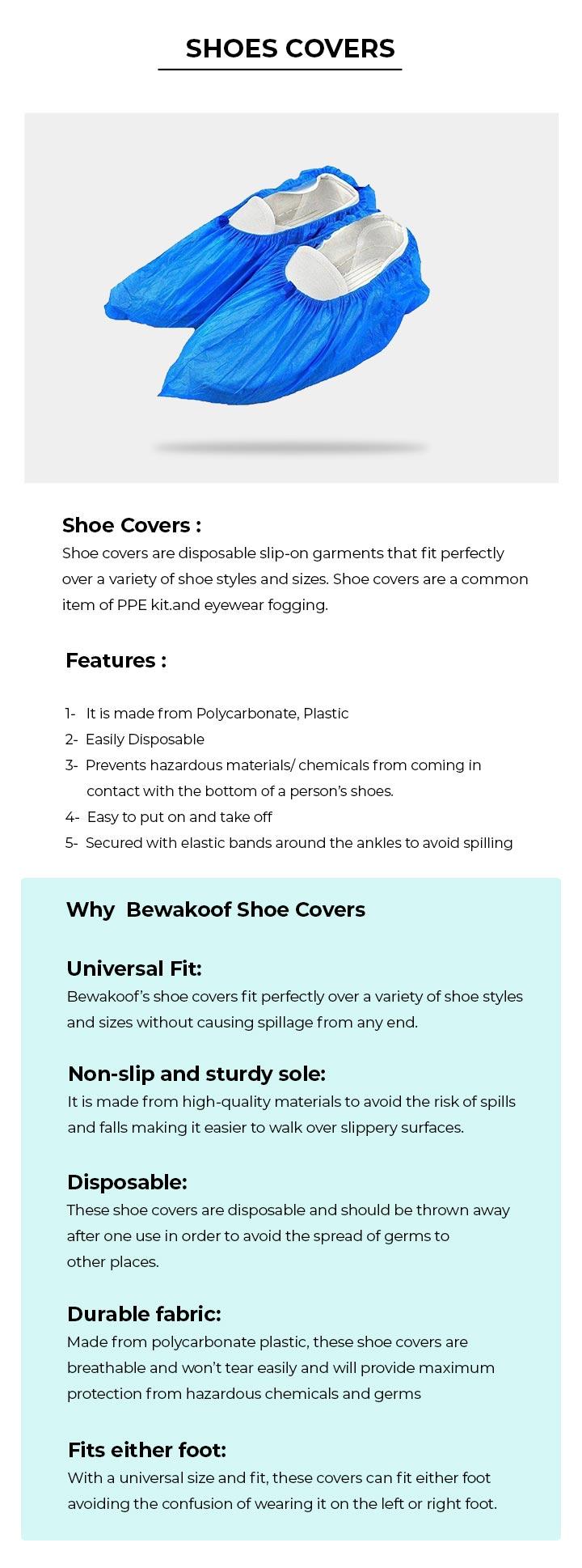 Disposable Shoe Cover - Pack of 100 Description Image Mobile Site 0@Bewakoof.com