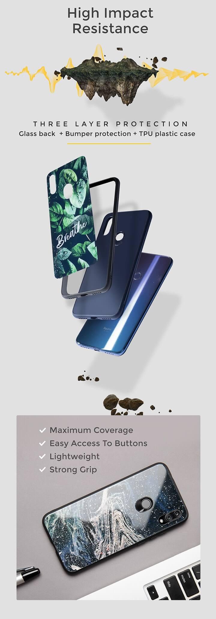 Thor Hammer Vivo V15 Pro Glass Mobile Cover (AVL) Description Image Mobile Site 1@Bewakoof.com