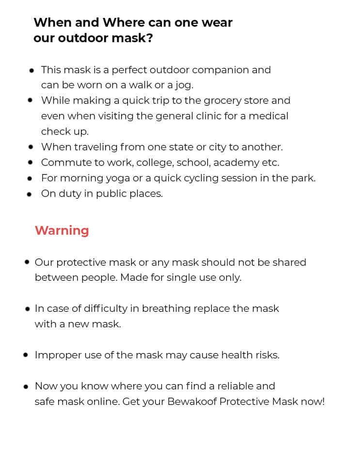 Women's 2-Layer Everyday Protective mask - Pack of 3 (Jet Black) Description Image Mobile Site 6@Bewakoof.com