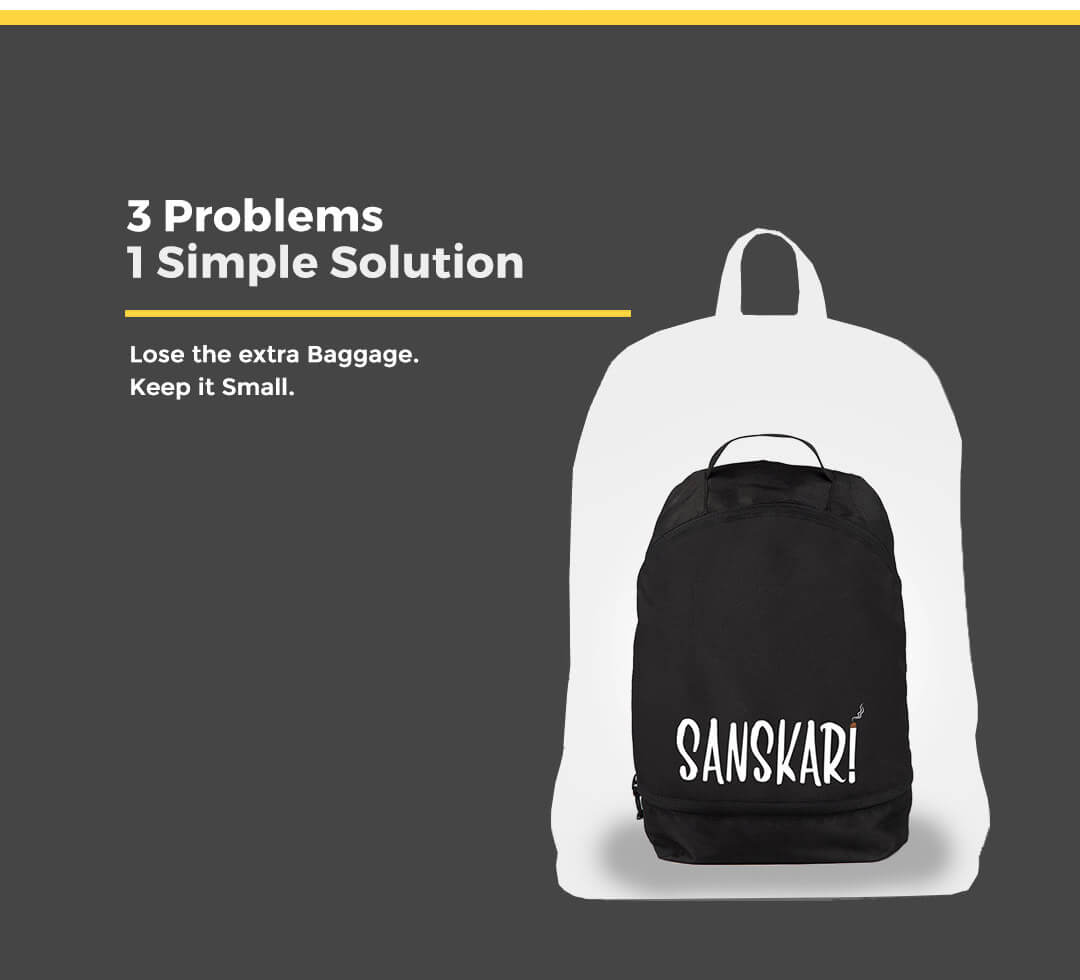 Be Positive Printed Small Backpack Description Image Mobile Site 2@Bewakoof.com