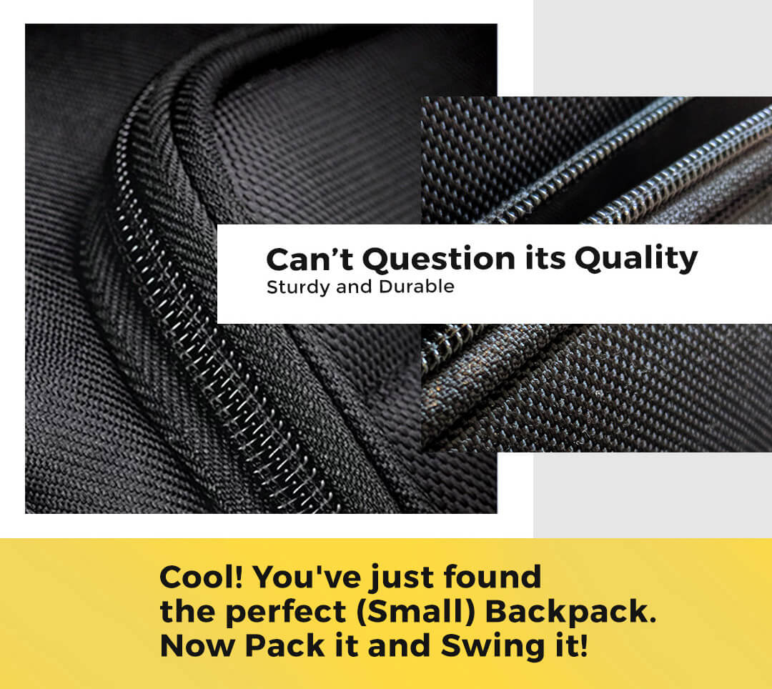 Space Grey Small Backpack Description Image Mobile Site 5@Bewakoof.com