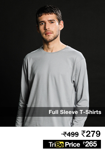 Men's Plain Full Sleeve T Shirts