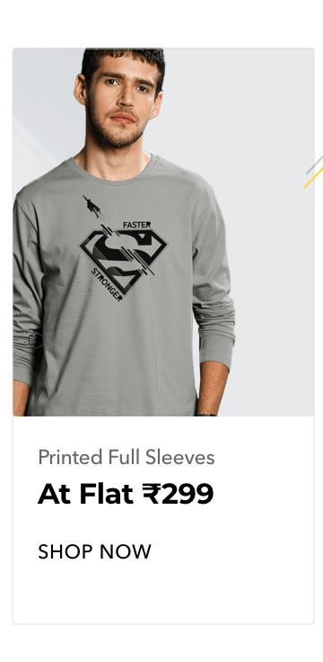 Printed Full Sleeve T-Shirts for Men