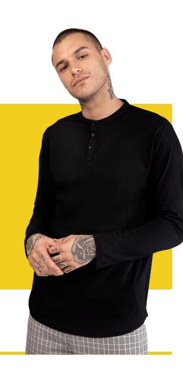 Men's Henley T-Shirts