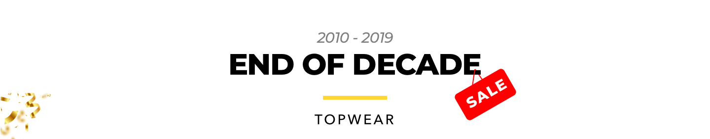 The End Of Decade Sale for Men