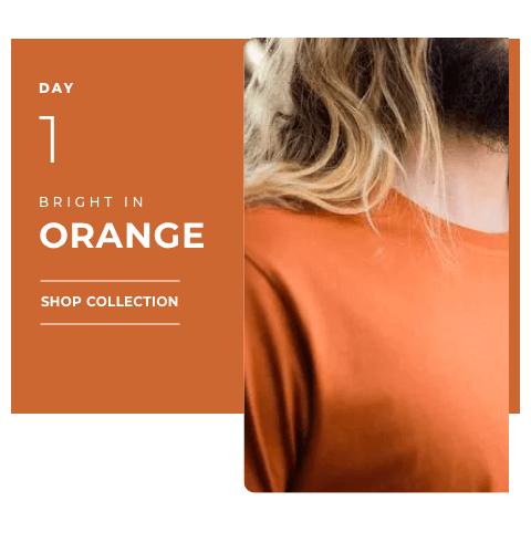 Navratri 2019 Day 1 - Orange Color T Shirt
