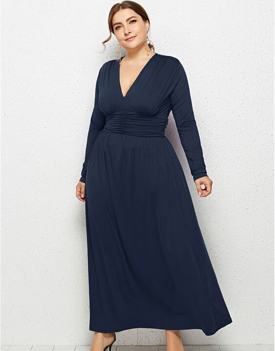 Plus Size Long Sleeve Dress Outfits for Women