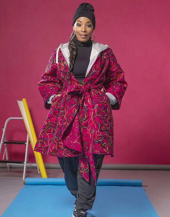 Plus Size Printed Jackets Outfits for Women