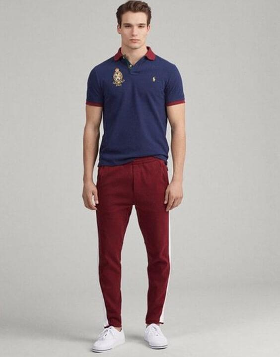 Polo Shirt and Track Pants