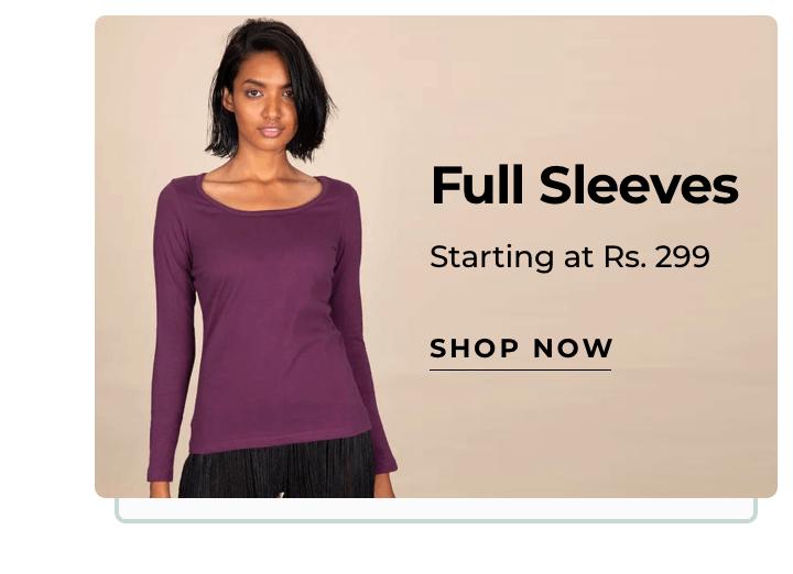 Full Sleeve T-Shirts for Women