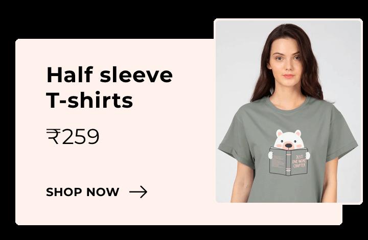 Half Sleeve T-Shirts for Women