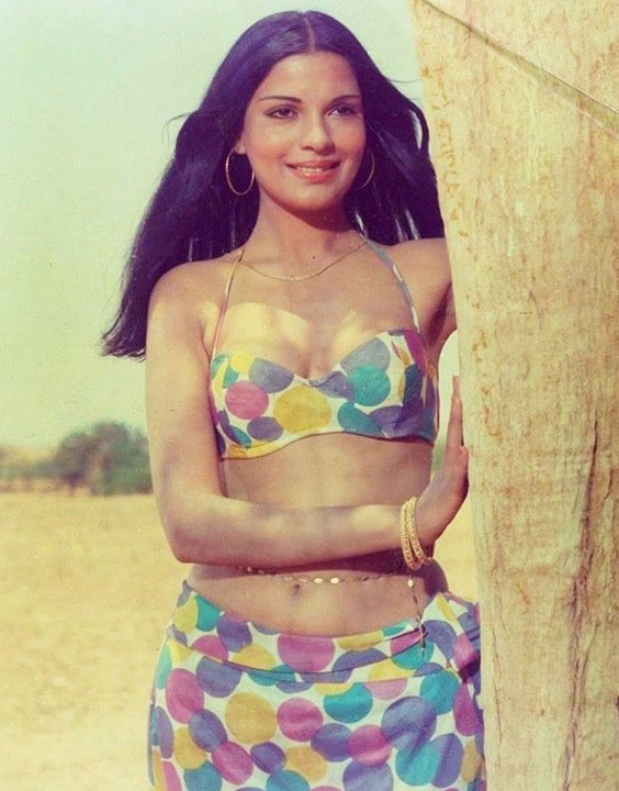 Zeenat Aman classic bikini photo
