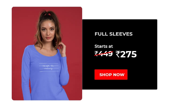 Full Sleeve T-Shirts for Women