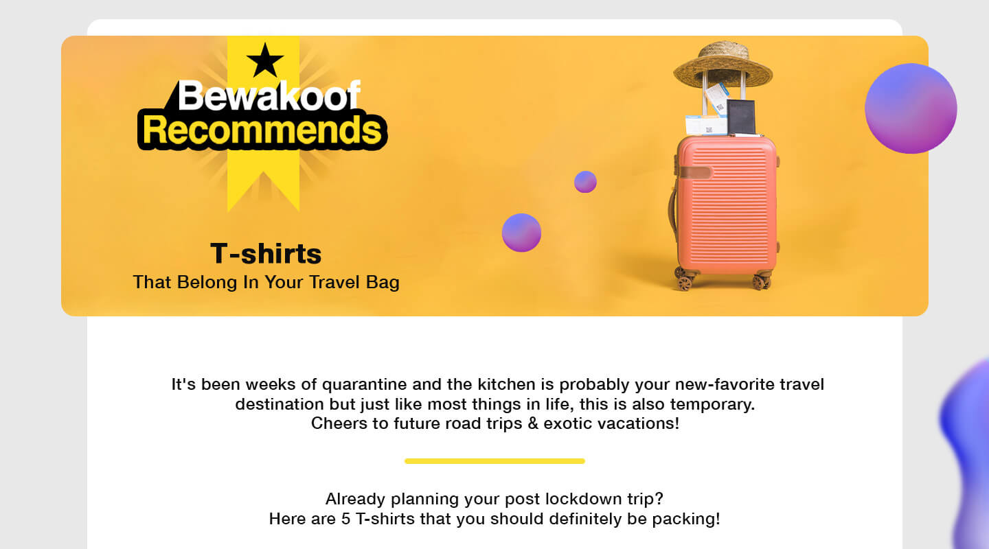 T-Shirts that belong in your travel bag