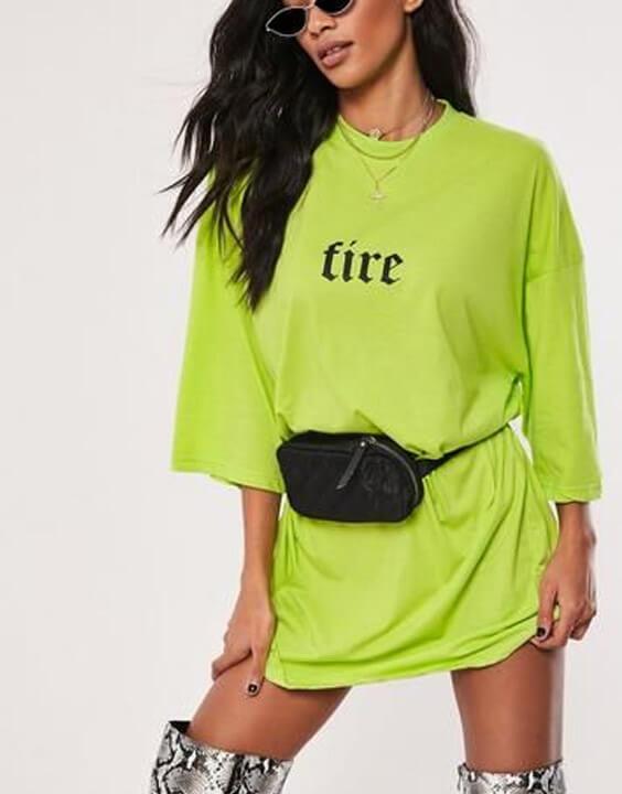 Green Oversized T Shirt Dress for Women - Bewakoof Blog