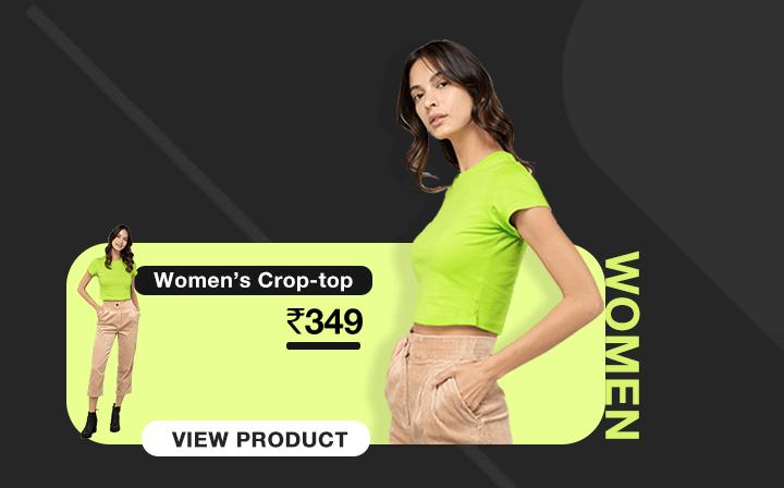 Neon Crop Tops for Women