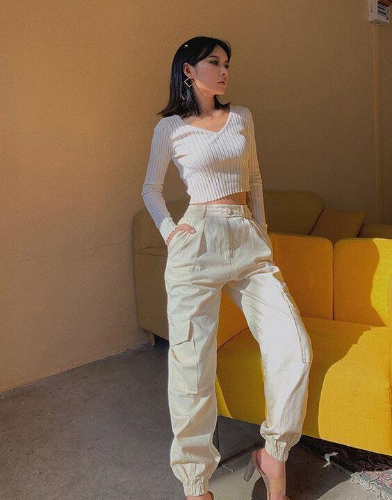 Off White Cargo Pants for Women | Bewakoof blog