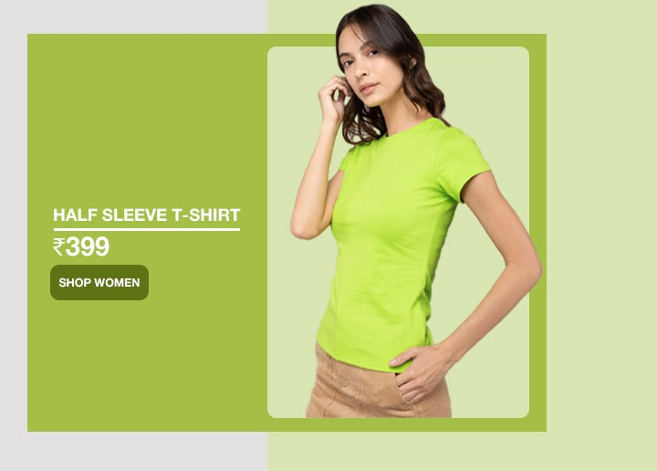 Plain Half Sleeve T-Shirts for Women