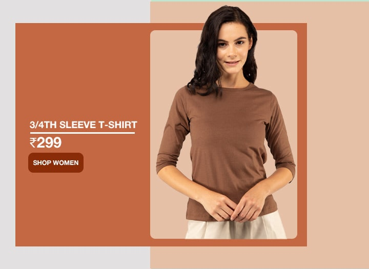 3/4 Sleeve T Shirts for Women