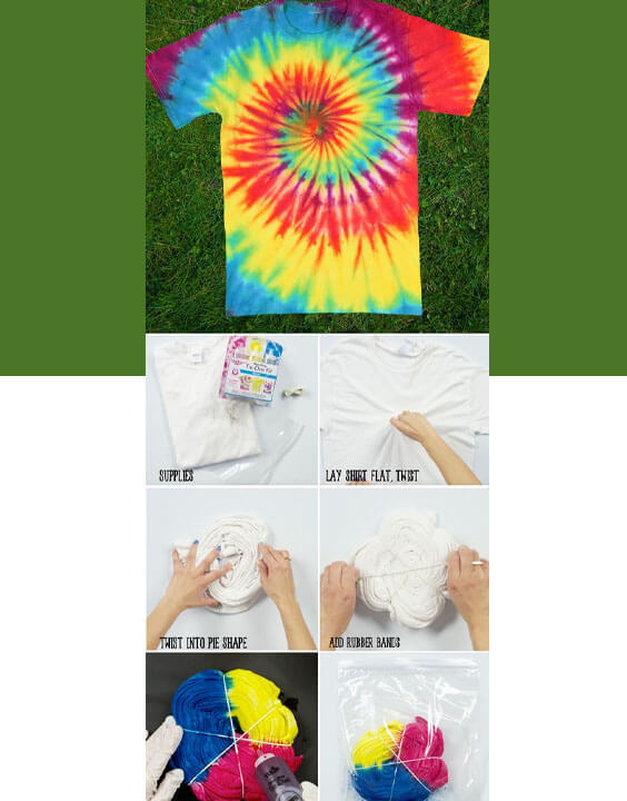 Spiral Technique guide | tie and dye techniques - Bewakoof Blog