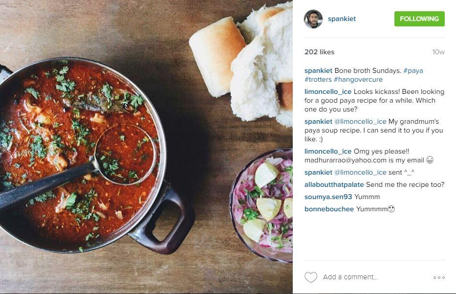 Ankiet Gulabani - Food Instagram Accounts  Utter Bewakoof