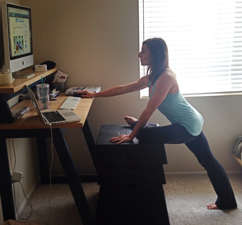 Desk Squats - Exercise at Work | Utter Bewakoof