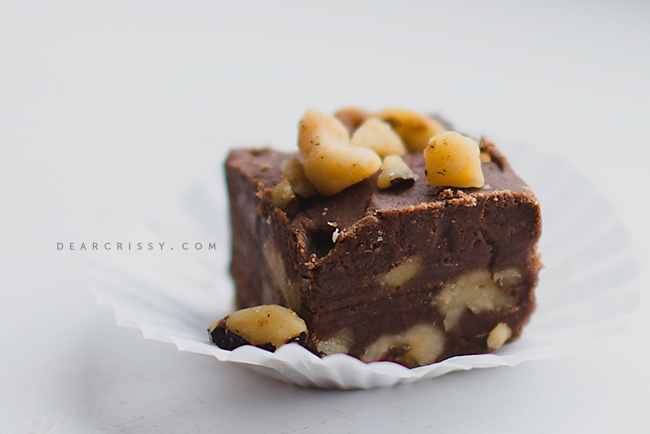Raw Chocolate Walnut Fudge