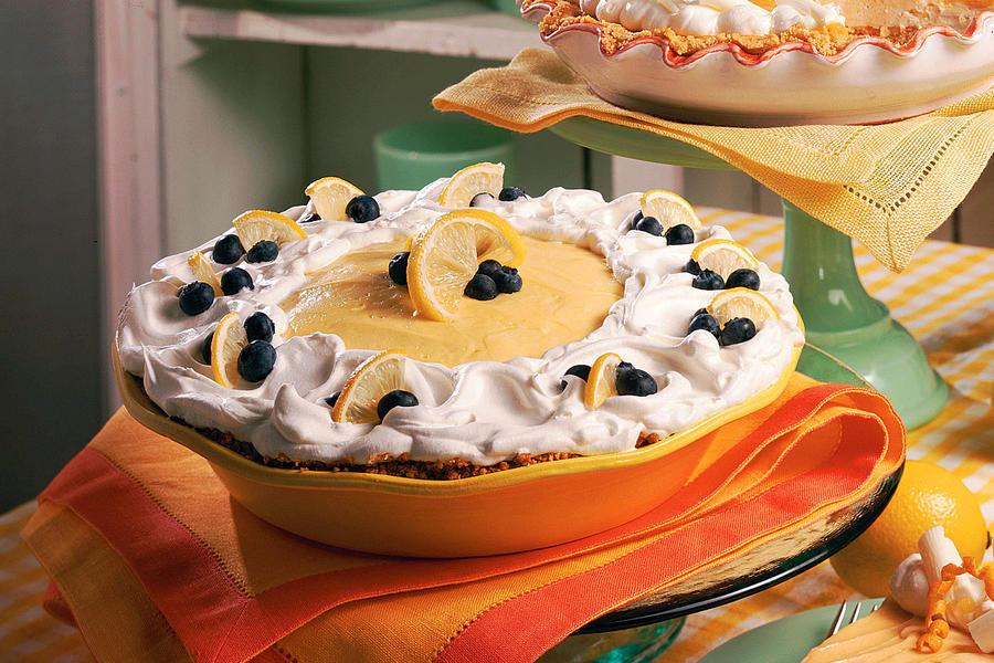 3 Lemon blueberry cream pie