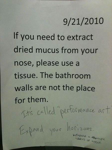 Toilet notes