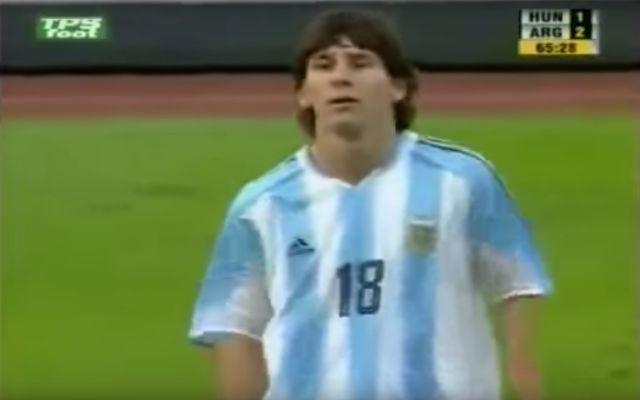 lionel messi debut argentina
