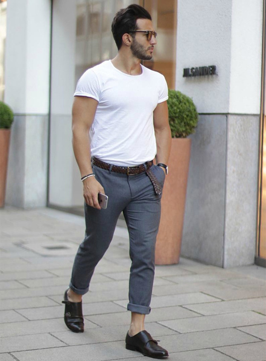 T-shirt with trouser and formal shoes - Bewakoof blog