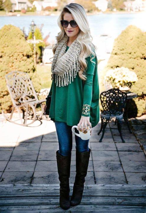 muffler outfit - bewakoof blog