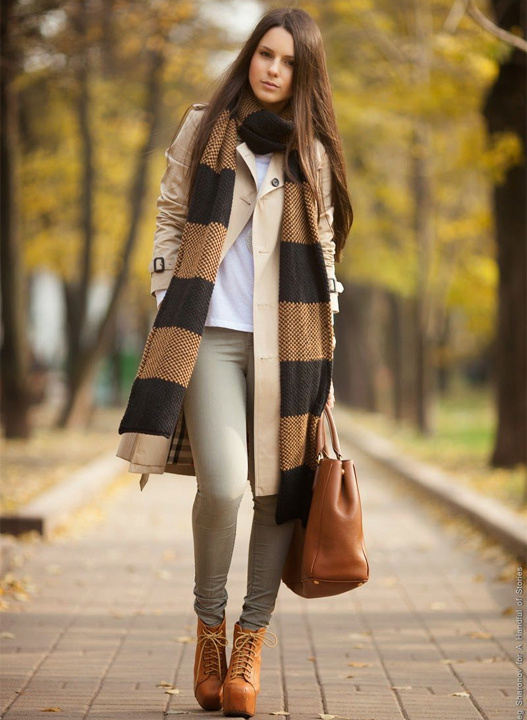 long scarf outfit - bewakoof blog