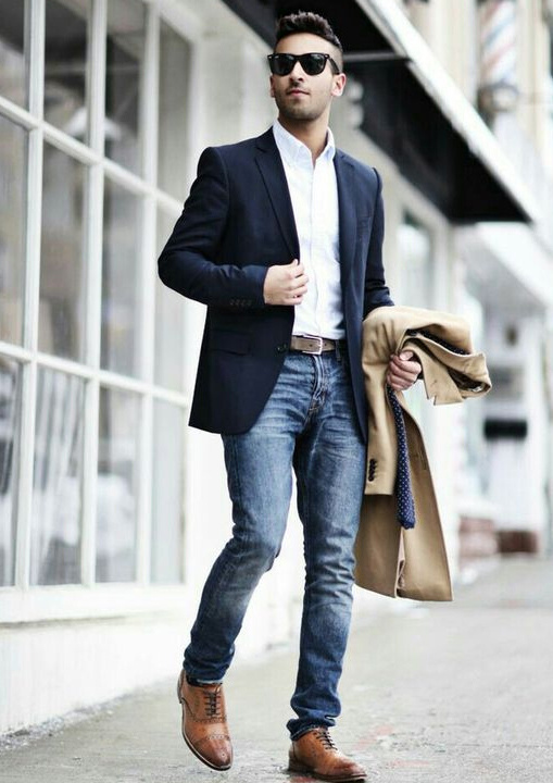 Navy blue blazer- Bewakoof Blog