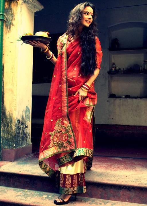 draping bengali saree - bewakoof blog