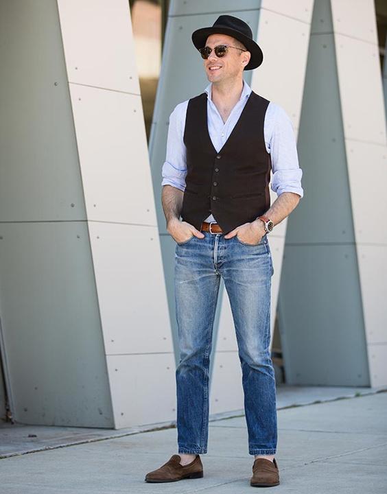 White Shirt, Waistcoat And Jeans Combination - Bewakoof Blog