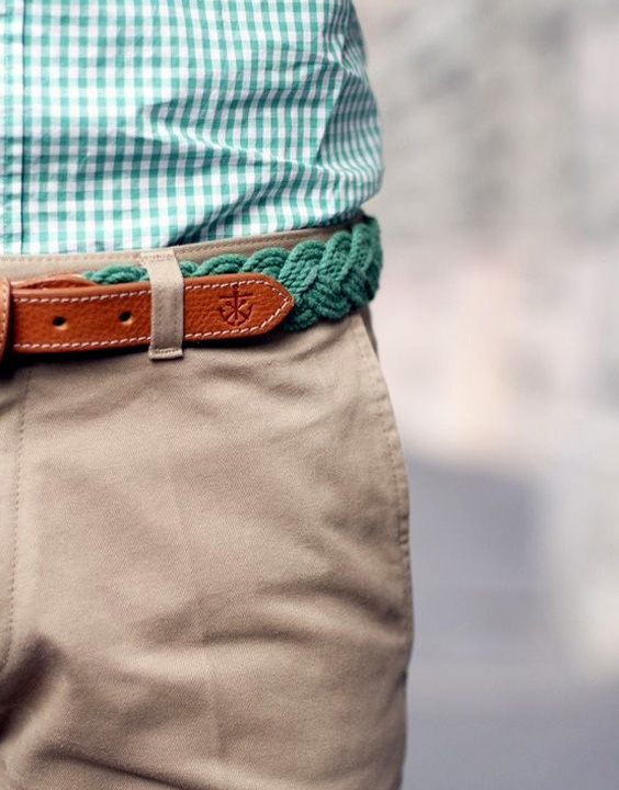 Woven casual belts for jeans and shorts