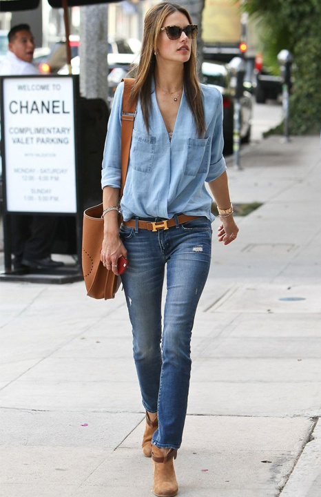 dc1fa015e4 What To Wear With A Denim Shirt - Denim Shirt Outfit Ideas ...