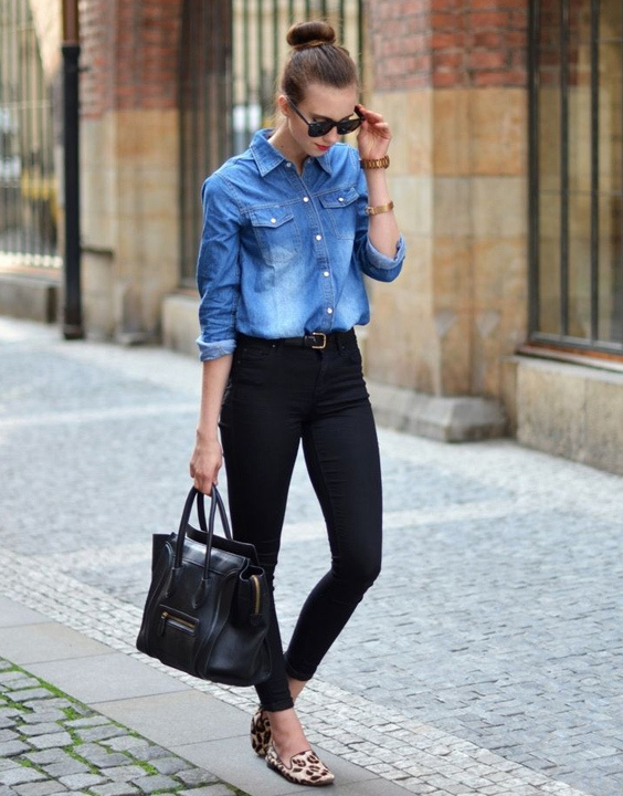 0880f0d466 What To Wear With A Denim Shirt - Denim Shirt Outfit Ideas ...