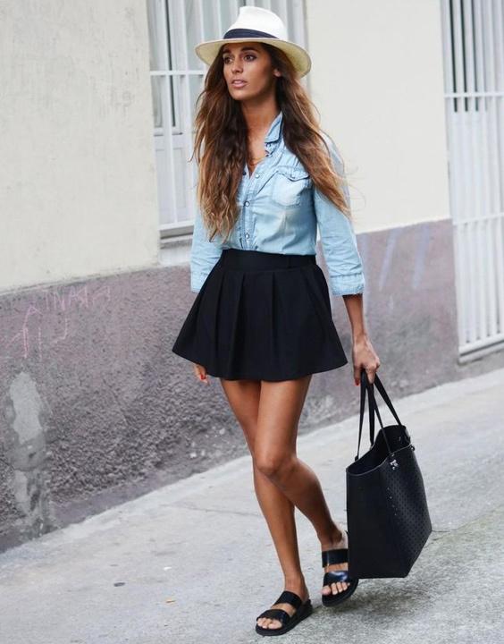 Black Skater Skirt Outfit - Bewakoof Blog