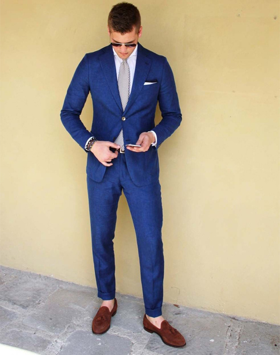 Blue Suit Brown Shoes Combination - Bewakoof Blog