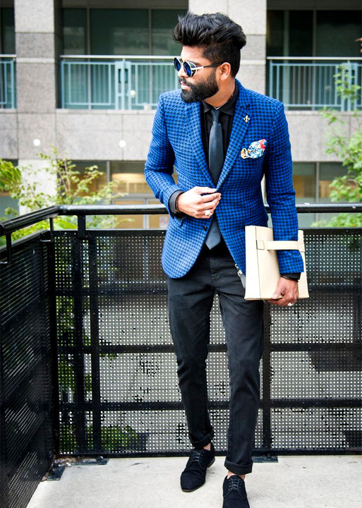 Blue blazer with black shirt - Bewakoof Blog