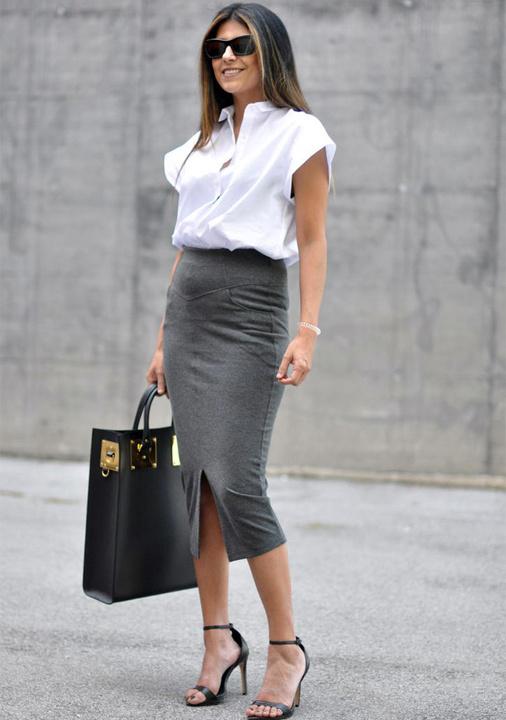 Formal Pencil Skirt Outfit - Bewakoof Blog