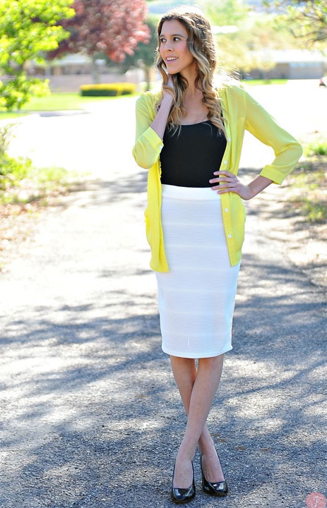 White Pencil Skirt Outfit - Bewakoof Blog