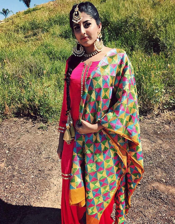 Punjabi Suits With Phulkari Dupatta