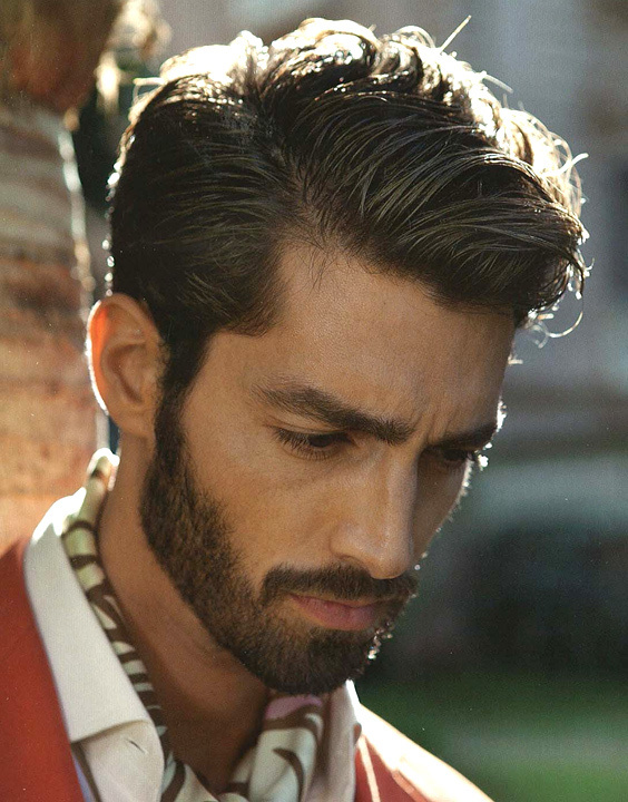 Side part hairstyle and beard - Bewakoof Blog