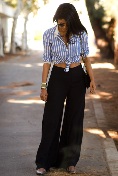 d846cad45fa How To style Colors Palazzo Pants in Different Ways