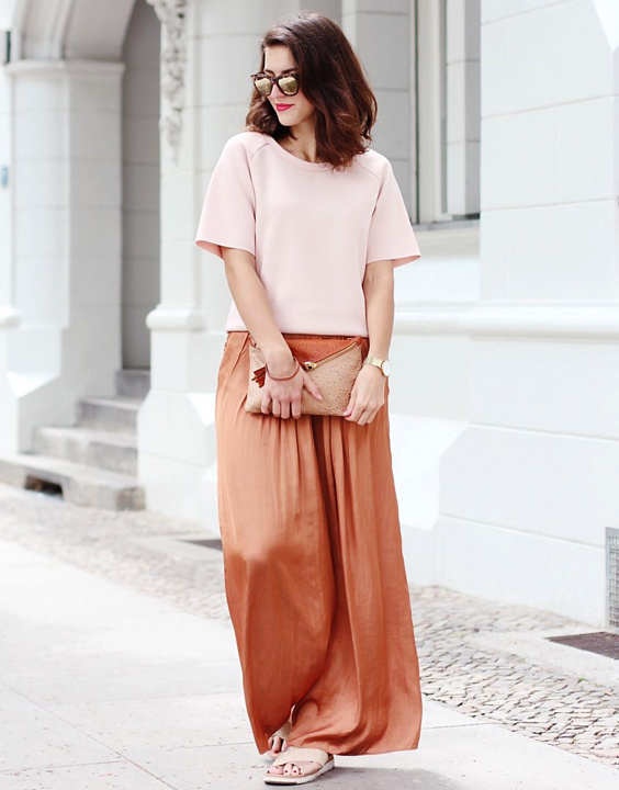 Palazzo pant with short top